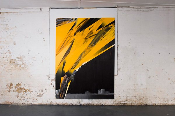 Olkiluoto, acrylic on canvas, 250 x 180cm, 2008, Schwartz Gallery (photo: Matthew Blaney)