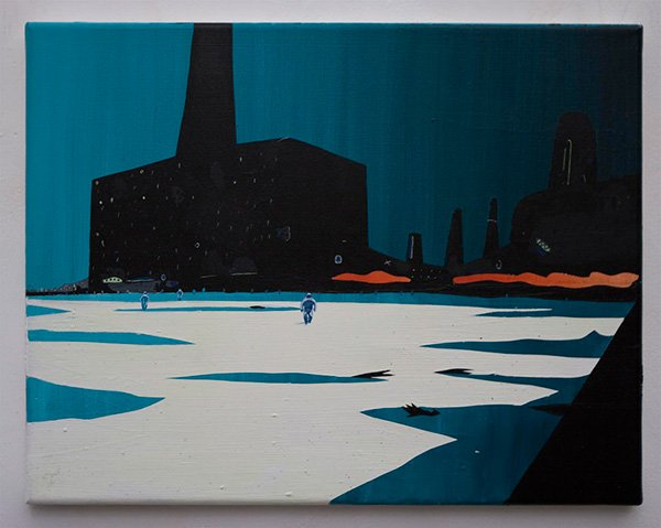 Toxic Landscape (1), acrylic on canvas, 51 x 41cm, 2002 (photo: Matthew Blaney)